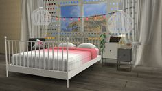 Sims 4 CC's - The Best: IKEA LEIRVIK Bed Frame and HAY BED LINEN by Minc78...