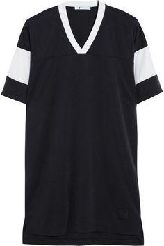 Alexander Wang Robe T-shirt en piqué micro-sablé sur shopstyle.fr