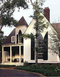 Carpenter's Gothic, and Rural Gothic, is a North American architectural style for an application of Gothic Revival architectural detailing  picturesque massing applied to wooden structures built by house-carpenters.
