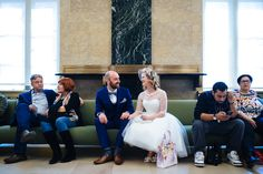 I like this shot with other people getting married at city hall too