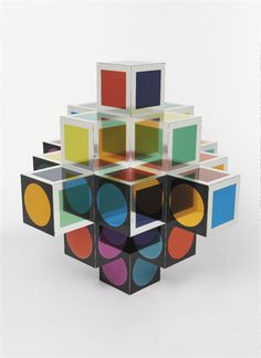 Victor Vasarely, Untitled, 1980. Metal multiple with colored panels.