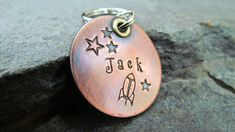 Dog tag  Pet tag  Pet Id Tag  Copper  Nickel  by themadstampers, $9.00