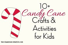 Candy Cane Craft Ideas for Kids – Candy Cane Preschool Christmas, Christmas Crafts For Kids, Christmas Fun, Xmas, Candy Cane Decorations, Candy Cane Crafts, Craft Activities For Kids, Craft Ideas, Candy Cane Poem