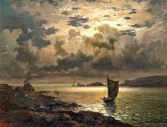 Night on a boat by Josefina holmlund