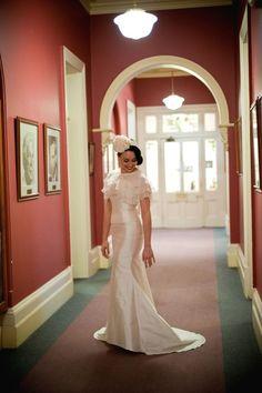 """Ela"" Wedding Gown by Emma Lamont."