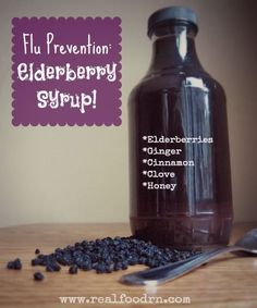 Recipe alert! Why is elderberry syrup healthy? Because elderberries….  are very high in vitamin A have more vitamin C than oranges are very high in quercitin (an antioxidant) are anti-inflammatory possess antiviral properties that have been shown to treat colds and flu  Read more: http://www.realfoodrn.com/homemade-elderberry-syrup/#ixzz2i8ZeCNwf