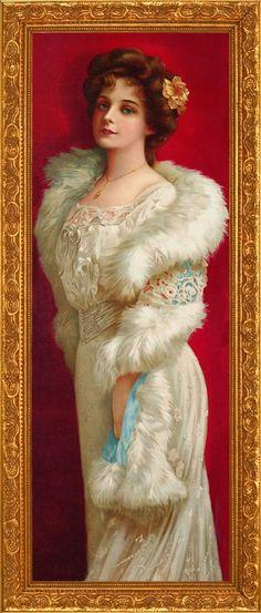 """Elegance in Fur"", Victorian print"