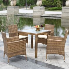 The raddest new product now available in our store 5PCS Wicker Ratta..., http://yardwells.myshopify.com/products/5pcs-wicker-rattan-outdoor-dinning-table-chair-set?utm_campaign=social_autopilot&utm_source=pin&utm_medium=pin
