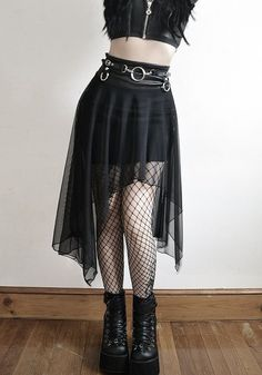 All items are MADE TO ORDER by Mulan Duong Ships in weeks Multi-item orders will take longer Draped style skirt made with light faux pleather. Egirl Fashion, Dark Fashion, Gothic Fashion, Fashion Outfits, Womens Fashion, Fashion Watches, Punk Outfits, Grunge Outfits, Girl Outfits