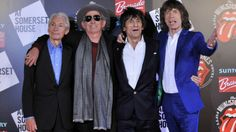 Charlie Watts, Keith Richards, Ronnie Wood en Mick Jagger