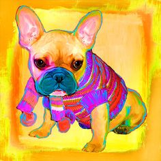 {pet portraits by rebecca collins} bogey in painterly style | www.artpaw.com