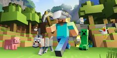 Minecraft Windows 10 Edition coming to Xbox Project Scorpio. Minecraft Windows 10 Edition is joining the ranks of Xbox Play Anywhere titles. With a single purchase of the game, players would be able to play on both PC and Xbox One, Kit Minecraft, Minecraft Download, Minecraft Posters, Minecraft Characters, How To Play Minecraft, Minecraft Skins, Minecraft Survival, Minecraft Gameplay, Minecraft Party