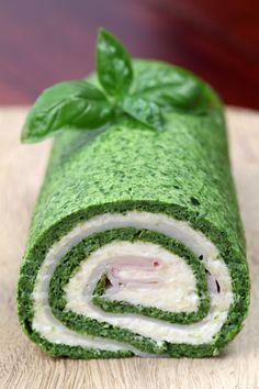 Špenátová roláda - Recept pre každého kuchára, množstvo receptov pre pečenie a varenie. Recepty pre chutný život. Slovenské jedlá a medzinárodná kuchyňa