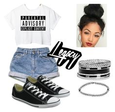 """""""Untitled #8"""" by ivie-cruz on Polyvore featuring Converse, GUESS and Boohoo"""