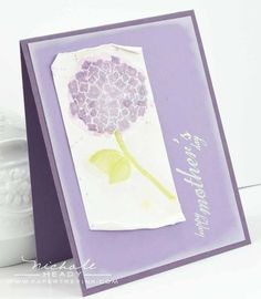 Faux Watercolor Mothers Day Card by Nichole Heady for Papertrey Ink (May 2012)