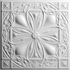 Avalon White Ceiling Tiles by Ceilume-The Smart Ceiling Tile  Adding a small splash of decoration in a simple way and in a different place, on the ceiling. This is a great way to do so. These ceiling tiles are pressed metal and look very clean in a space especially a salon and spa.