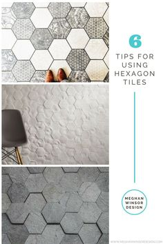In love with hexagon tiles and unsure of how to use them in a space? Check out 6 Tips for Using Hexagon Tiles! www.meghanwinsordesign.com