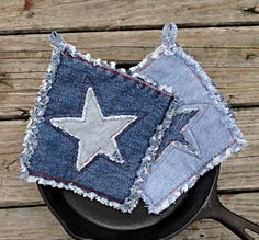Upcycled Denim Potholders (Etsy)