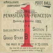 http://www.christmasfootballgifts.com/ Christmas football gifts! The best football Christmas gifts in America! #gifts #47straight       1893 Princeton football ticket coasters.
