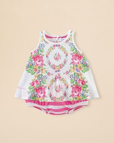 Ralph Lauren Childrenswear Infant Girls' Floral Tank & Ruffled Bloomers Set - Sizes 3-24 Months | Bloomingdale's