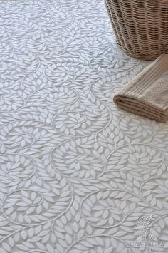 Beautiful white floor tile design