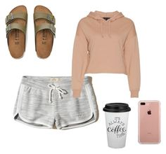 """""""Lounge around"""" by maggiekane1 on Polyvore featuring Hollister Co., Birkenstock and Belkin"""