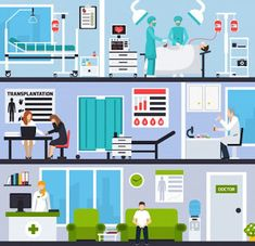 Buy Transplantation Horizontal Compositions by macrovector on GraphicRiver. Transplantation horizontal compositions with patients and doctors in hospital interiors and operating room flat vecto. Geometric Background, Textured Background, Book Hospital, Fashion Banner, Abstract Paper, Doctor Office, Social Media Banner, Technology Background, Digital Technology