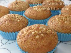 Muffins de chocolate blanco y crocanti de almendra