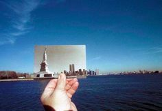 Have you ever done this before? Lined up an old picture or postcard with a tourist spot? Awesome effect!