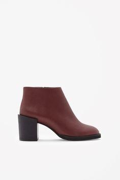 COS | Block-heel leather boots