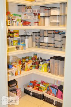 Pantry - I like the light colours, the long but shallow shelving and the attention to detail in grouping