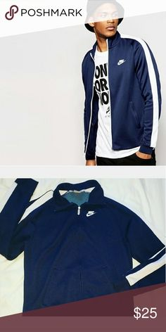 Navy blue nike track jacket Perfect condition only worn a couple times Nike Jackets & Coats
