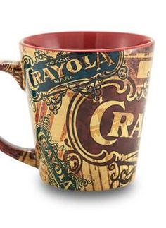 How cool is this vintage Crayola mug? It's the perfect gift for the coffee lover on your list.| Christmas gift ideas