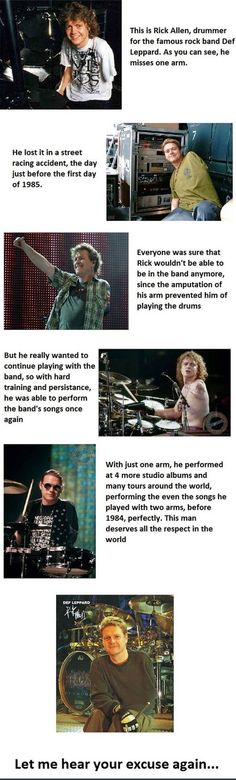 Inspiring story of former Deff Lepard drummer Rick Allen. - musiciansare.com