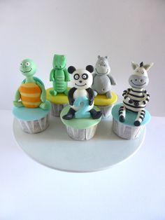 Cupcakes para aniversário - Panda e os seus amigos