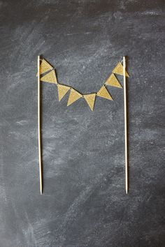 Cake Bunting  Gold Glitter  Wedding Cake Topper by ReadyGo on Etsy,...easily made by us :)