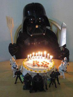 Baby Darth Vader at his birthday party
