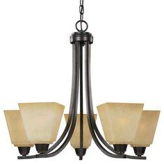 Sea Gull Lighting 3113005 Parkfield 5 Light 1 Tier Chandelier