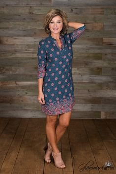 The Carnegie Dress - Denim Floral Glamour Farms, Stitch Fix Outfits, Fashion Over 50, Stitch Fix Stylist, Easy Peasy, Cute Dresses, Summer Dresses, Cool Outfits, Casual Outfits