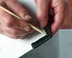 bookbinding: leather corners