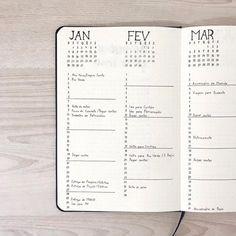 Bullet journal future log. | @bujototheminimal