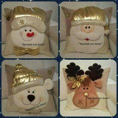 Risultati immagini per cojines para navidad con moldes Felt Crafts, Christmas Crafts, Diy And Crafts, Christmas Ornaments, Christmas Cushions, Christmas Pillow, All Things Christmas, Christmas Holidays, 242