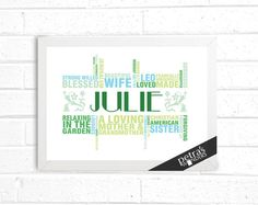 Anniversary, Birthday Gift Personalized Print: For HER or HIM - Wife, Husband- boyfriend Girlfriend - Love print Gift for him.