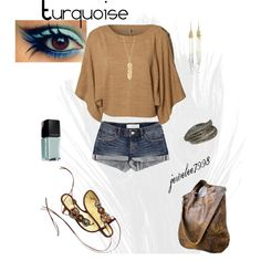 Turquoise Summer, created by jewelee7998 on Polyvore