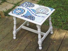 """Vintage """"Circles"""" mosaic table"""