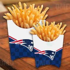 New England Patriots Sports Party French Fry Boxes