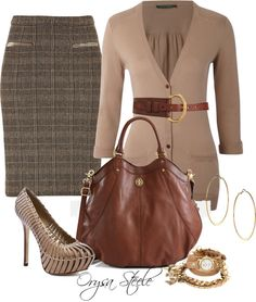 """""""Chic Camel"""" by orysa on Polyvore"""