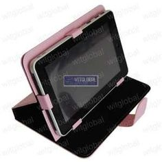 7″ PINK Case W/ Rotating Screen 360 For Android Tablet Pandigital Coby MID Nextbook + Others
