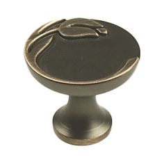Knob, 1-3/16-In Diameter, Antique Bronze/ Copper