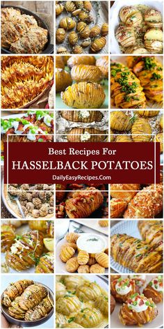 To make your potato menu more diverse while potatoes are at their harvest season, we're excited to share 25 hasselback potato dishes today. Cheesy hasselback potatoes, loaded hasselback potatoes, garlic butter hasselback potatoes, garlic and parmesan 30 Min Meals, Easy Meals, Side Dish Recipes, Vegetable Recipes, Side Dishes, Potato Dishes, Potato Recipes, Hasselback Potatoes, Cooking Recipes